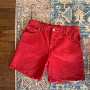 Vintage Red Levi Shorts